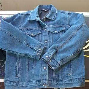 NRA Gear denim jacket conceal carry.